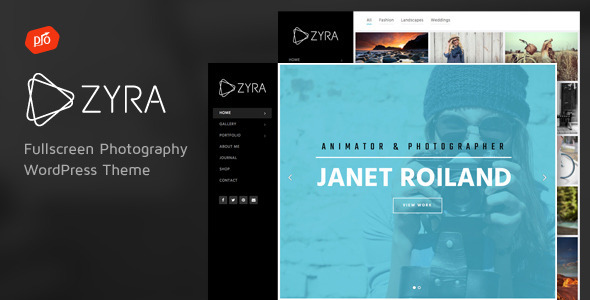 Zyra – Fullscreen Photography Theme