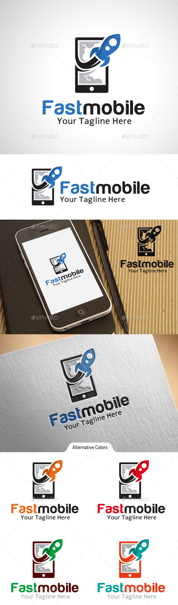 Fast Mobile Logo  - Objects Logo Templates