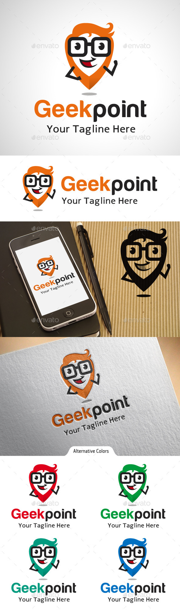 Geek Point Location Logo - Objects Logo Templates