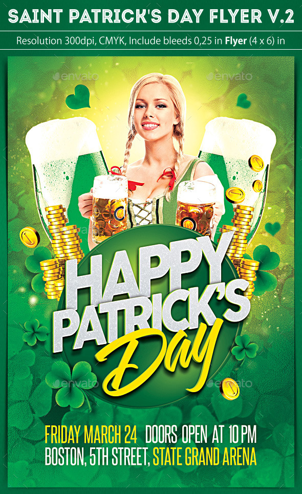 Saint Patrick's Day Flyer v.2 - Clubs & Parties Events