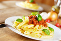 Pasta rigatoni on the white plate - PhotoDune Item for Sale