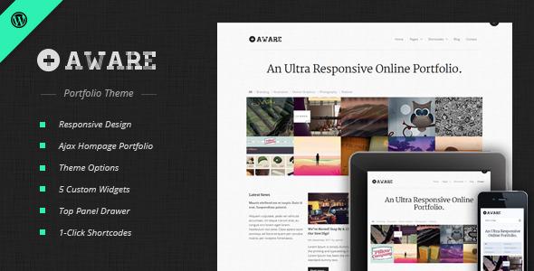 Free Download Aware - Responsive Wordpress Portfolio Theme Nulled Latest Version