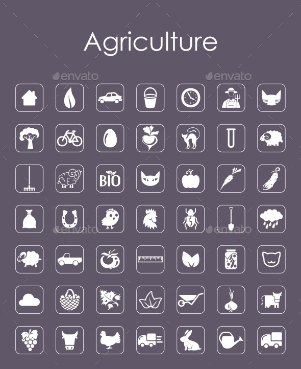 Set of Agriculture Icons - Web Elements Vectors