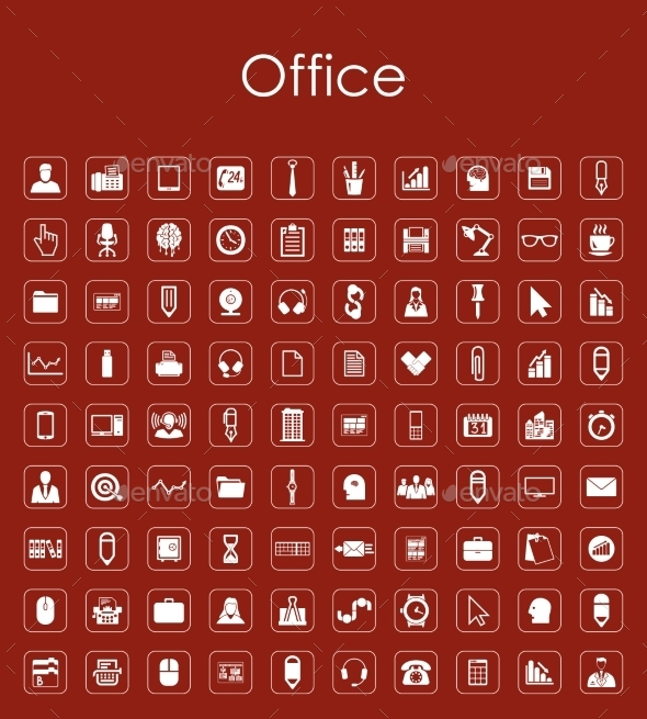 Set of Office Icons - Web Elements Vectors