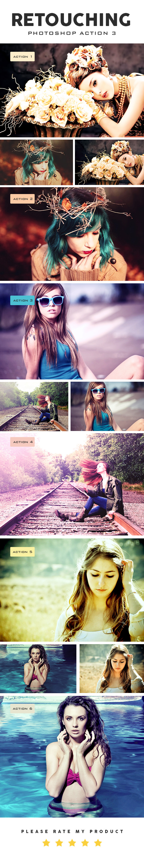 Retouching Photoshop Action 3 - Photo Effects Actions