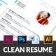 Clean Resume CV - GraphicRiver Item for Sale