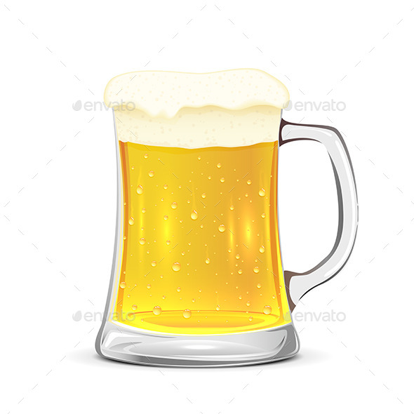 Glass Mug of Beer - Food Objects