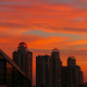 Clouds Passing by Over City at Sunset - VideoHive Item for Sale