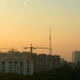 City Construction At Sunset - VideoHive Item for Sale