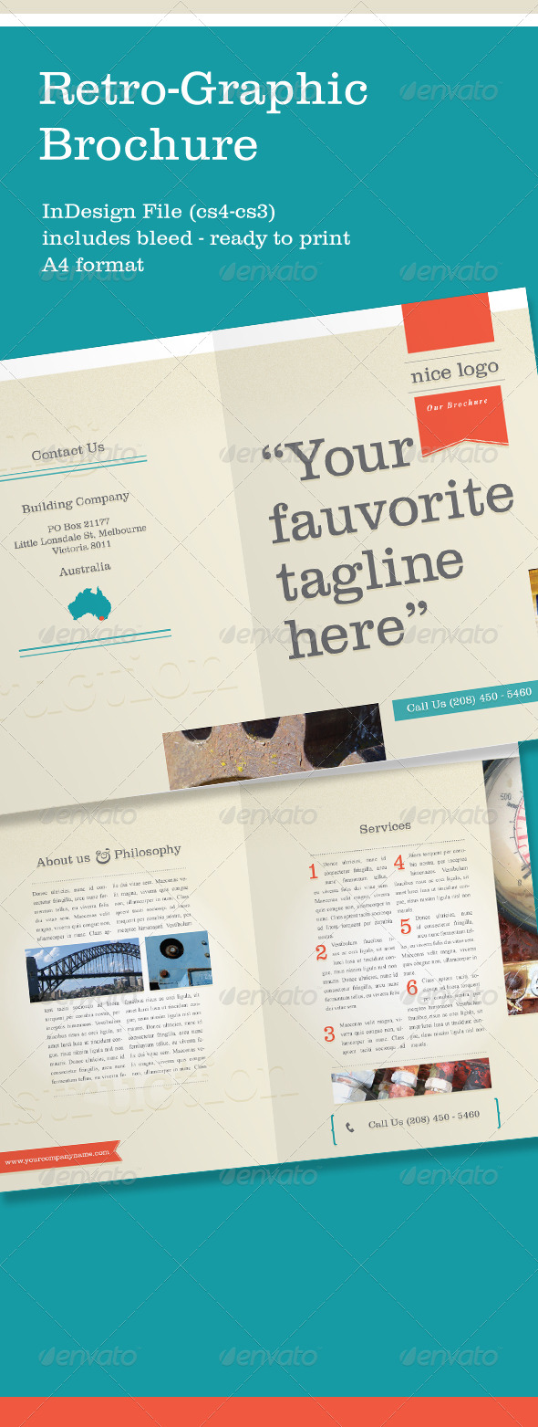 A4 Retro Brochure  - Corporate Brochures