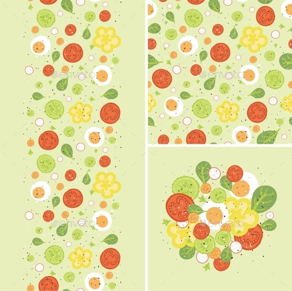 Egg Salad Pattern  - Food Objects