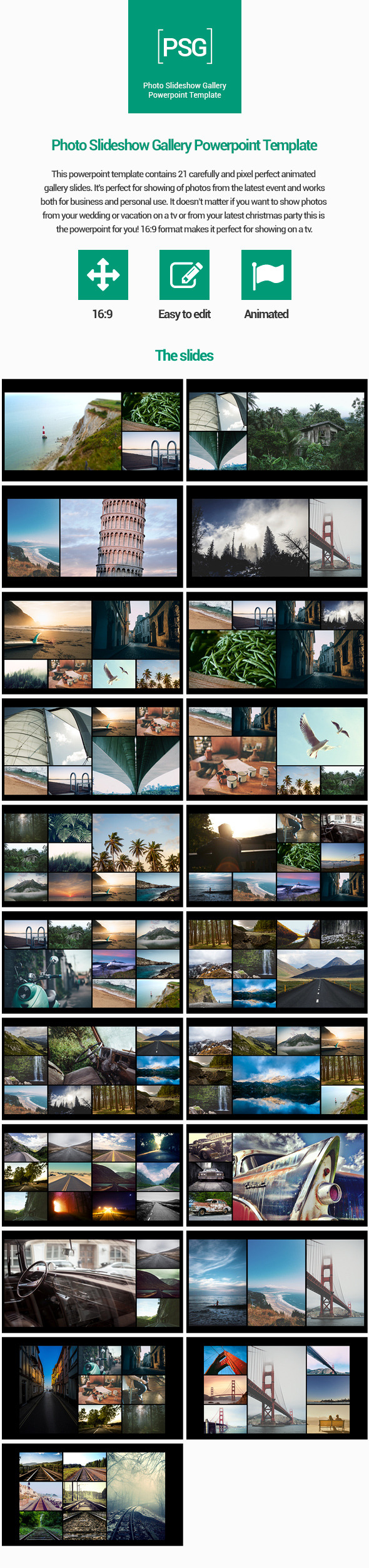 Photo Slideshow Gallery Powerpoint Template - Creative PowerPoint Templates
