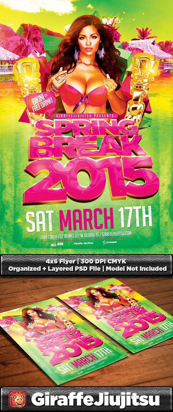 Spring Break v3 Flyer Template - Clubs & Parties Events