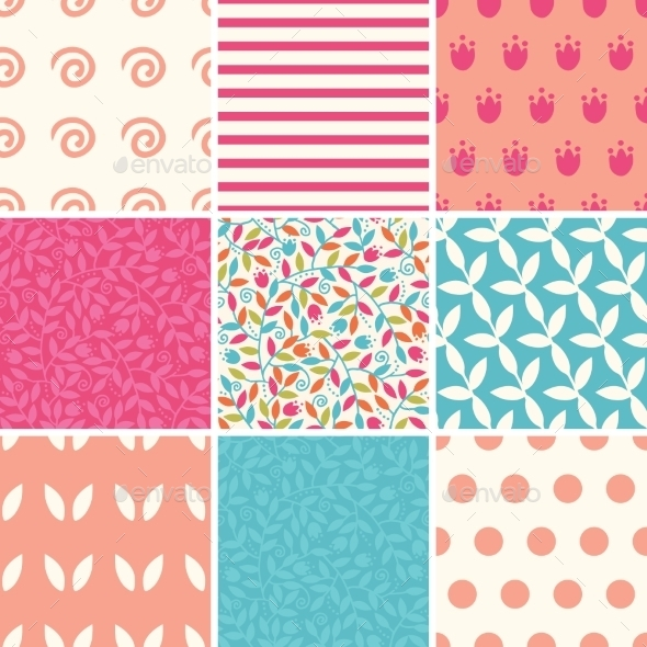 Colorful and Floral Patterns  - Patterns Decorative