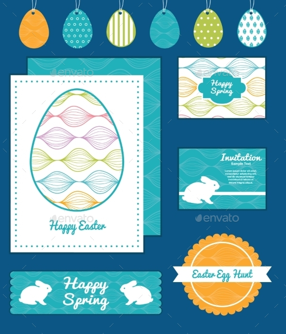 Easter Element Set  - Birthdays Seasons/Holidays