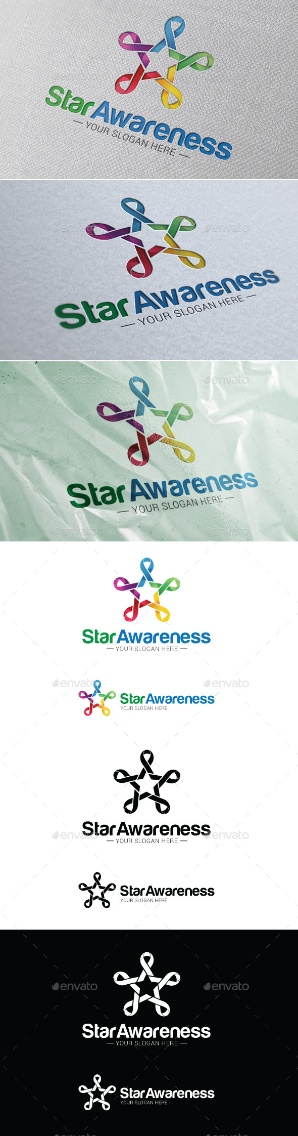 Star Awareness Logo Template - Symbols Logo Templates