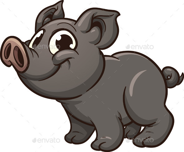Vietnamese Piglet - Animals Characters