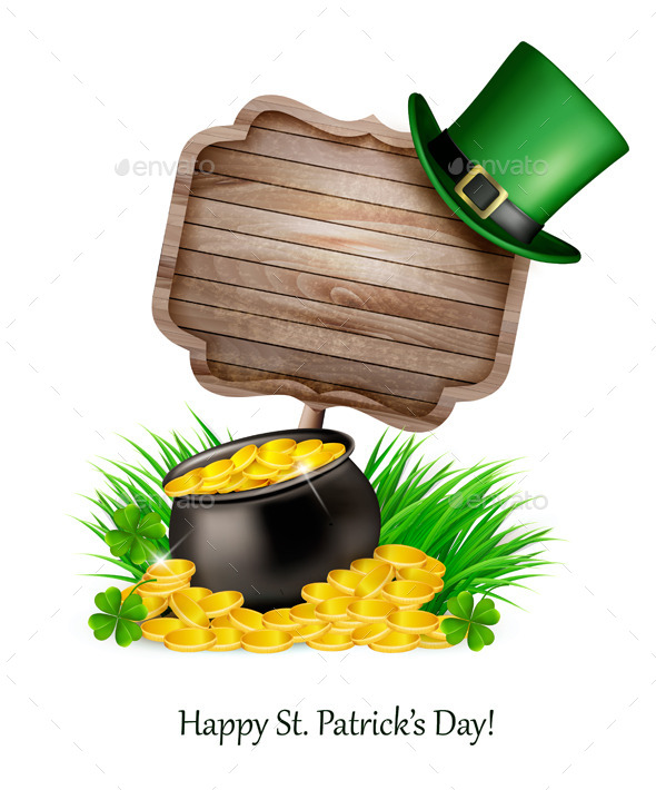 Saint Patrick' Day Background with a Sign - Miscellaneous Seasons/Holidays