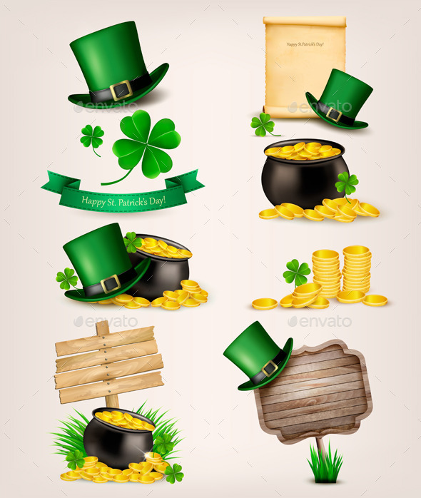 Set of St Patrick's Day Related Icons - Miscellaneous Seasons/Holidays