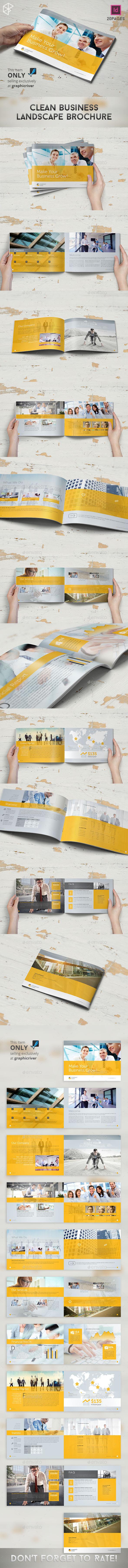 Clean Business Landscape Brochure - Corporate Brochures