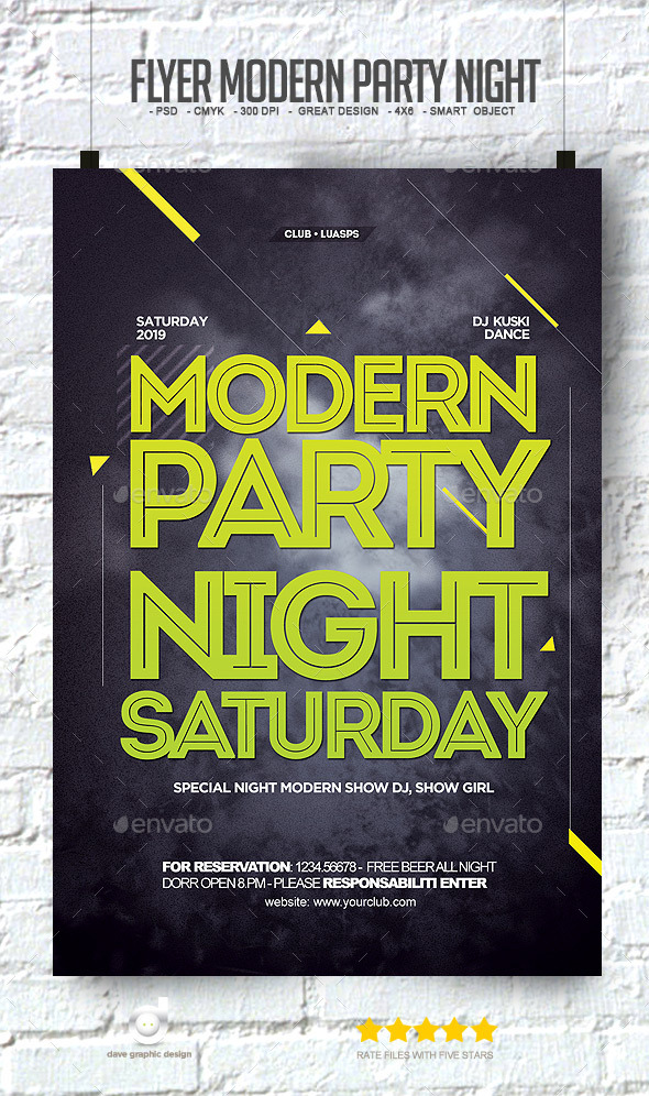 Flyer Modern Party Night - Clubs & Parties Events