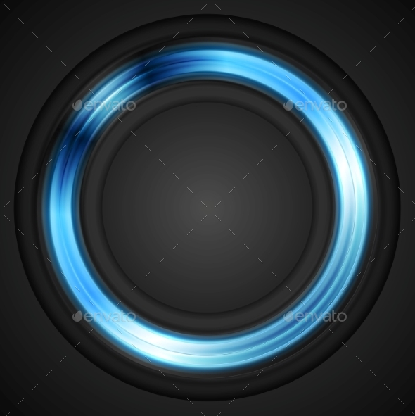Blue Glowing Circle - Backgrounds Decorative