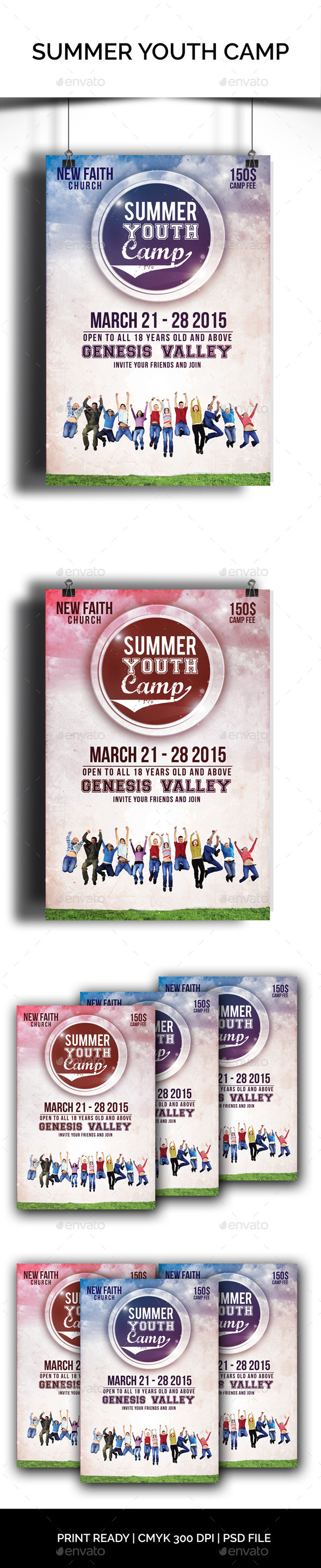 Summer Youth Camp - Church Flyers