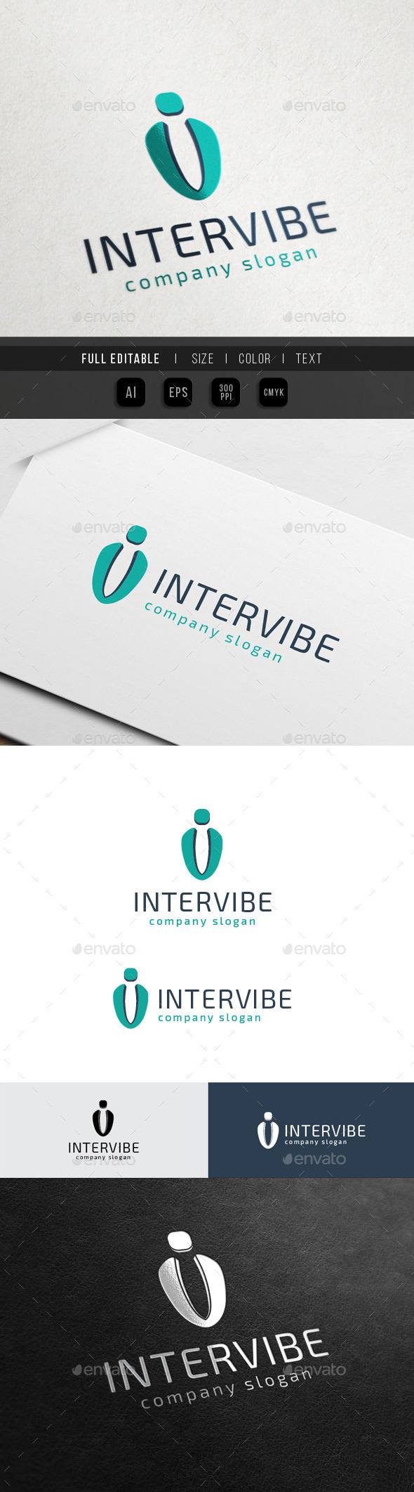International Viber - Letter i / u / v - Letters Logo Templates