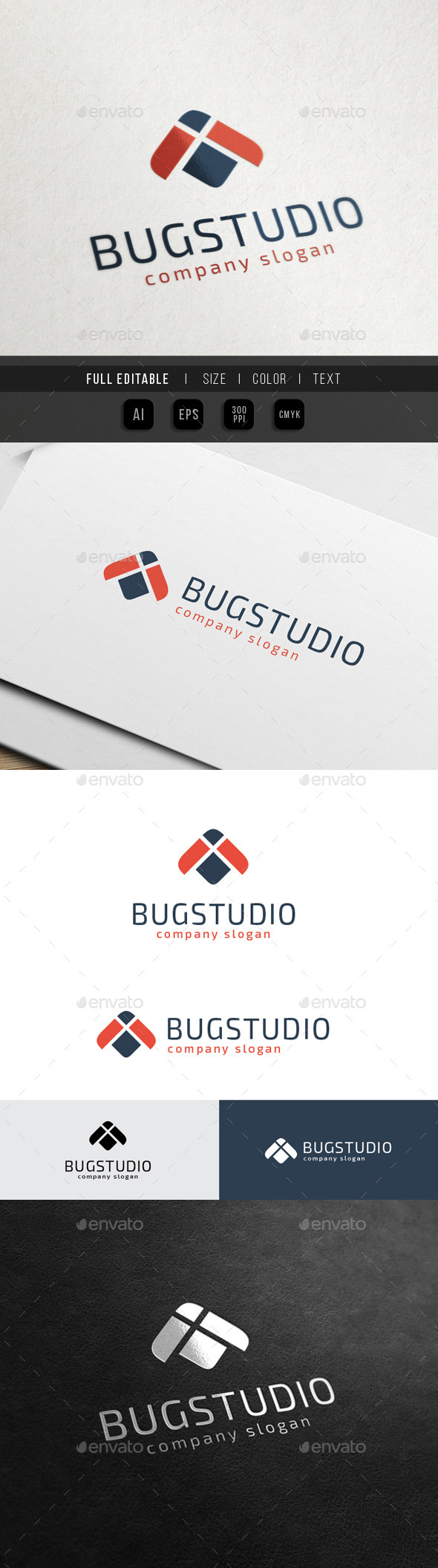 Bug Studio - Finance Marketing - Animals Logo Templates