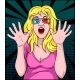 Woman Screaming in 3-D Movie - GraphicRiver Item for Sale