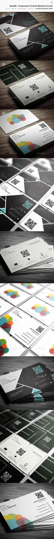 Bundle - Corporate Creative Business Cards - 80  - Creative Business Cards