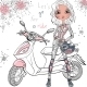 Girl with Scooter - GraphicRiver Item for Sale