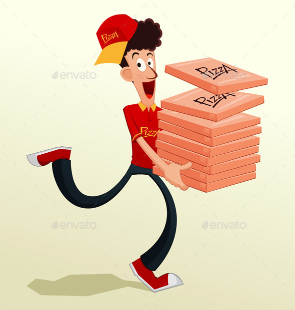 Pizza Delivery - People Characters