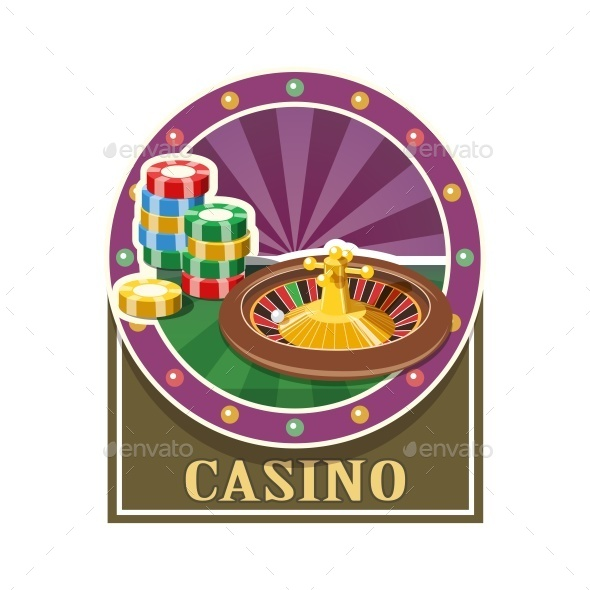 Casino Roulette and Counter - Sports/Activity Conceptual