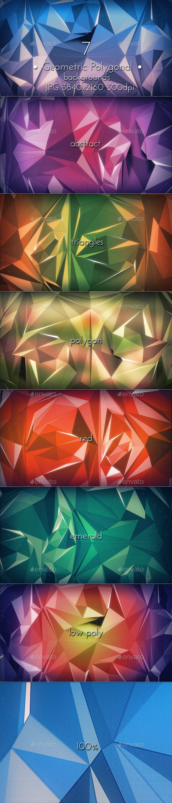 Geometric Polygonal Triangles - Abstract Backgrounds