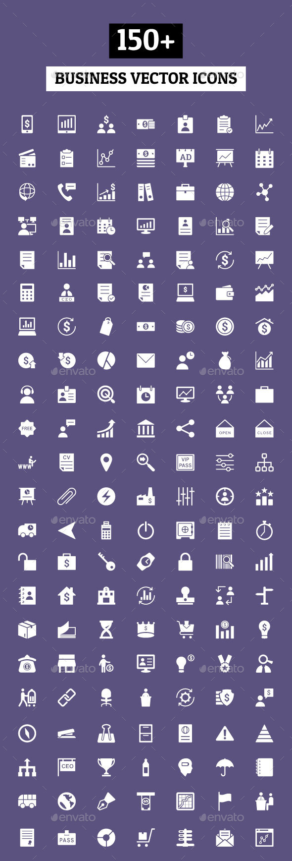 150+ Business Vector Icons - Business Icons