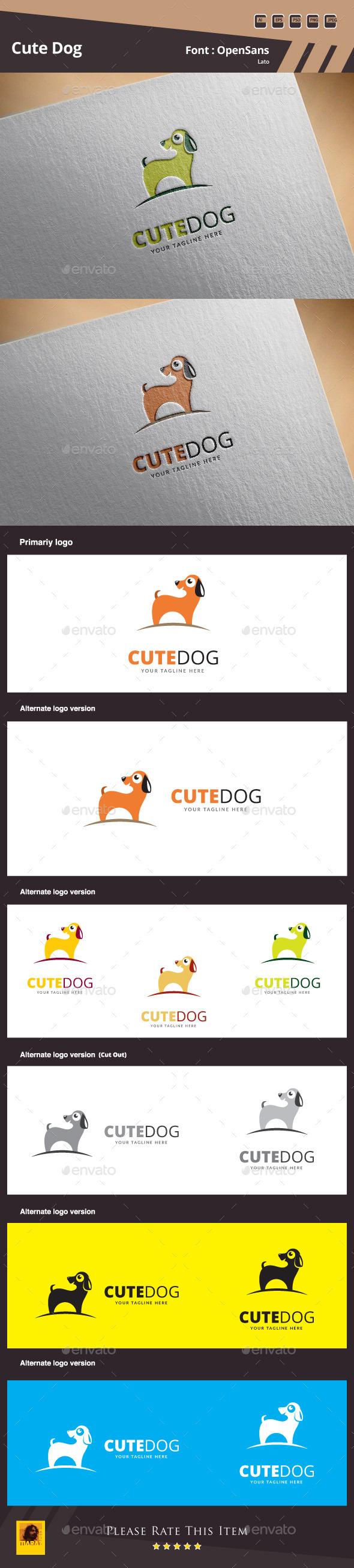 Cute Dog Logo Template - Animals Logo Templates