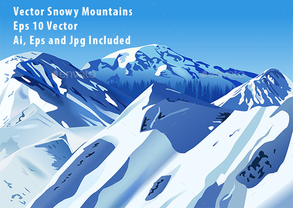 Snowy Mountains - Landscapes Nature