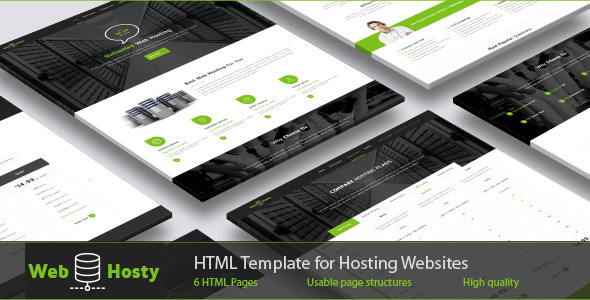 WebHosty – Hosting HTML Template