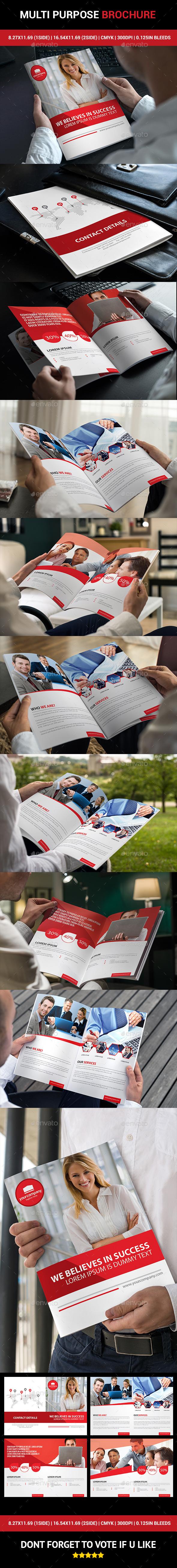 Multi Purpose Corporate Brochure - Informational Brochures