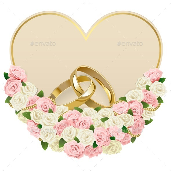 Wedding Card with Rings - Weddings Seasons/Holidays