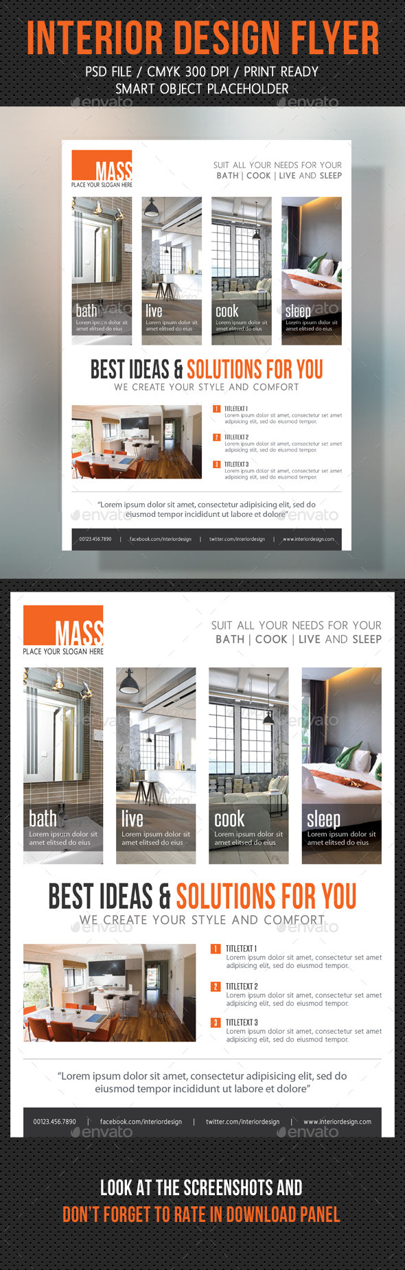 Interior Design Flexible Flyer V02 - Corporate Flyers