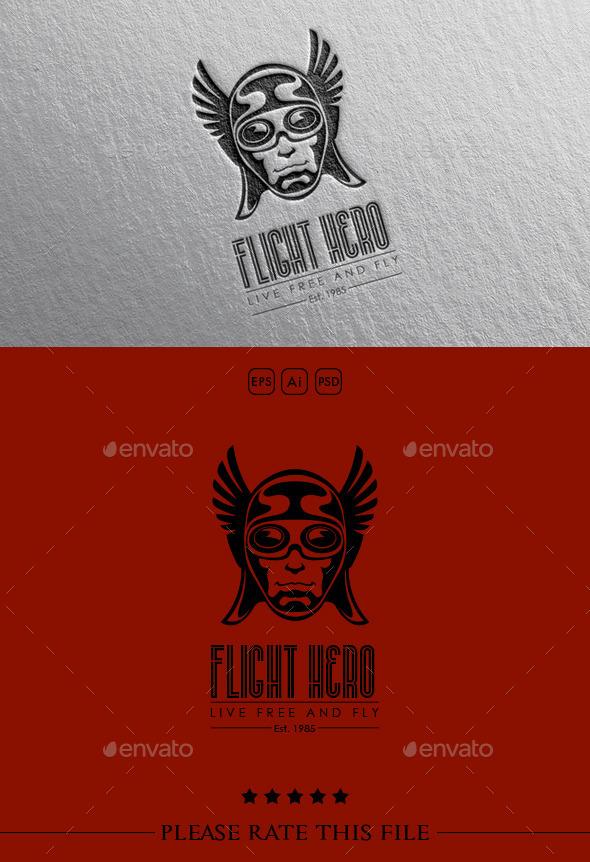 Wings Hero Logo - Vector Abstract