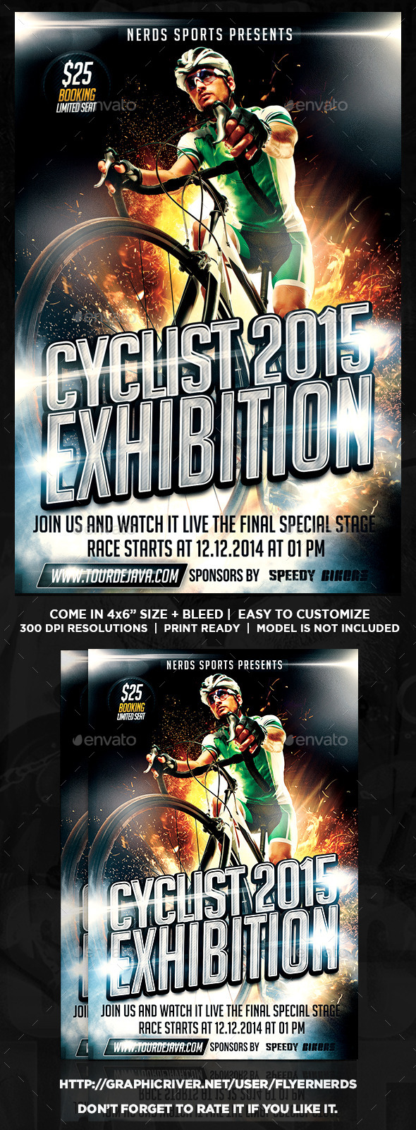Cyclist Exhibition 2015 Sports Flyer - Sports Events