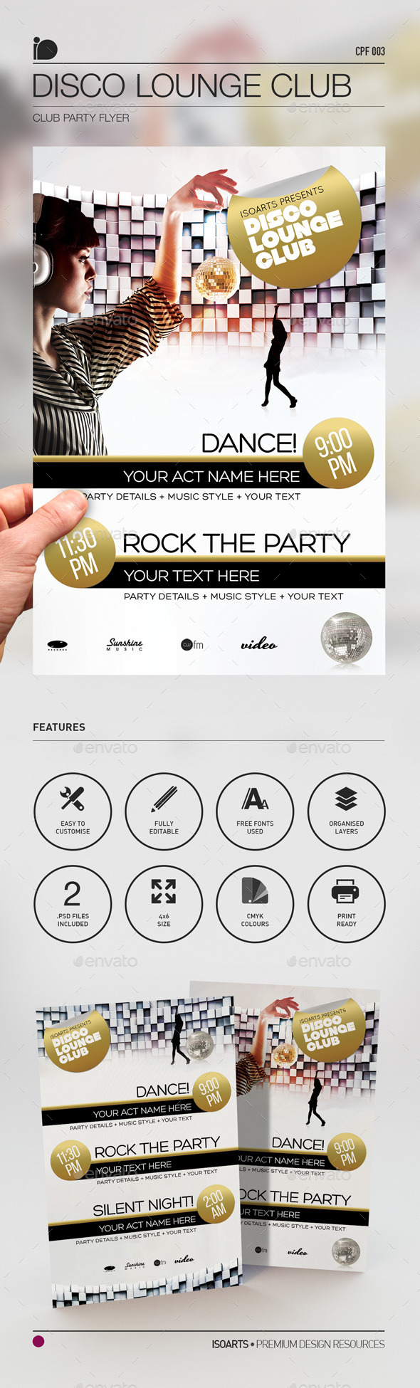 Club Party Flyer • Disco Lounge Club - Clubs & Parties Events