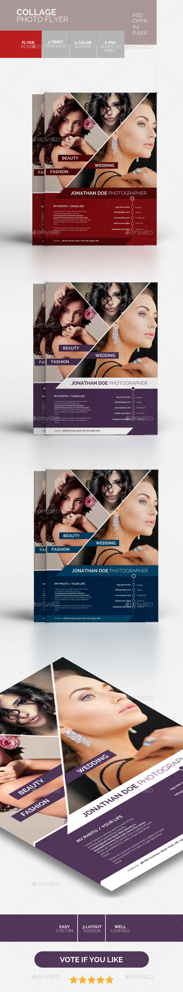 COLLAGE PHOTO FLYER - Flyers Print Templates