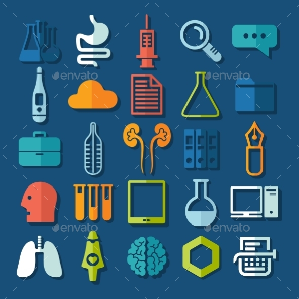 Set of Medicine Icons - Web Elements Vectors