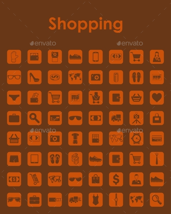 Set of Shopping Icons - Web Elements Vectors