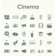 Set of Cinema Icons - GraphicRiver Item for Sale