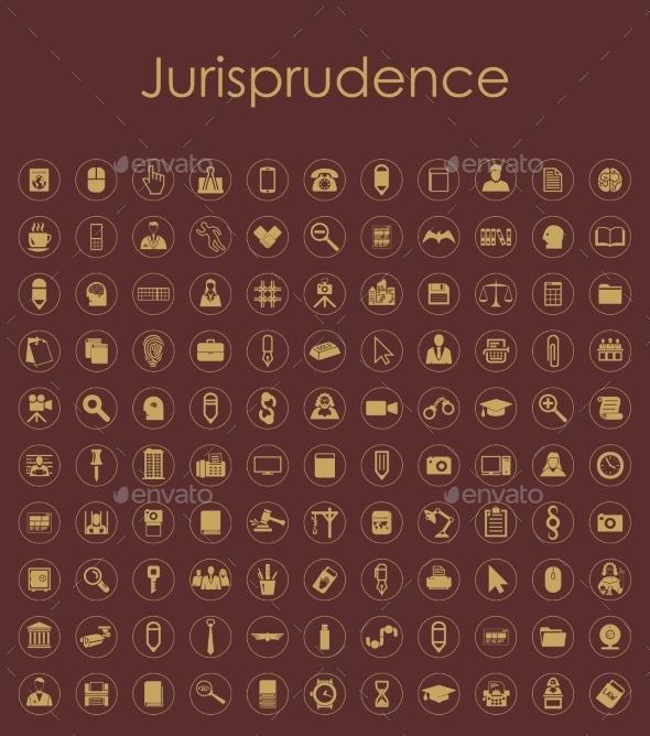 Set of Jurisprudence Icons - Web Elements Vectors